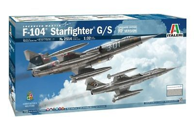 Laborioso Italeri Lockheed Martin F-104 Starfighter G/s Versione Rf 1:3 2 Kit 2514 Jet Alta Sicurezza
