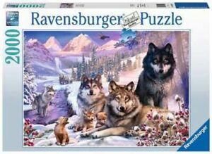 Ravensburger-Puzzle-2000-Pieces-Loups-Dans-Neige-Puzzle-Animaux-Puzzle-D-039-Adultes