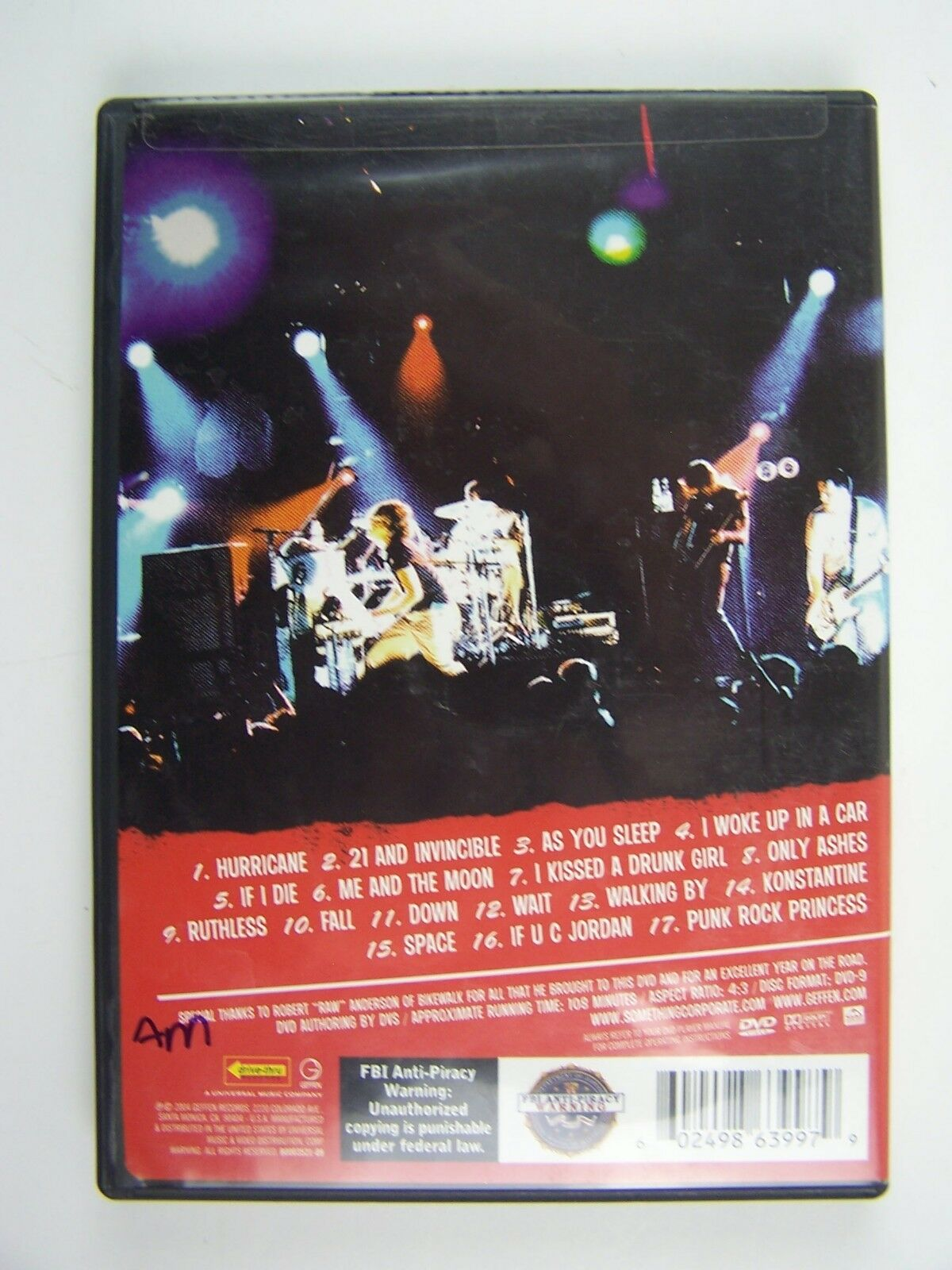 Something Corporate - Live at the Ventura Theater DVD 6