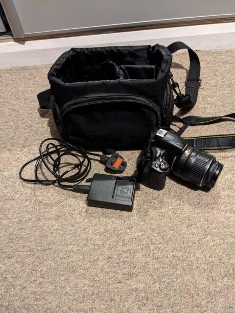 Nikon D D3100 14.2MP Digital SLR Camera - Black (Kit w/ AF-S DX 18-55mm and 55-…