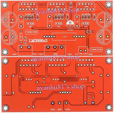 LM3886 x3 150W Parallel Mono Audio Power Amplifier PCB Reliable Design