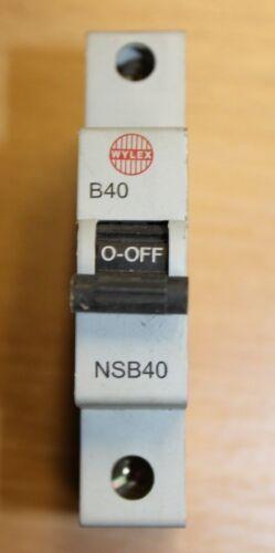 Details about  /Wylex NSB06 NSB16 NSB20 NSB32 NSB40 Type B Single Pole Circuit Breaker MCB D8