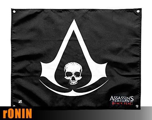 Bandiera ORIGINALE 60x50cm pirata Jolly Roger Black Flag ASSASSIN/'S CREED