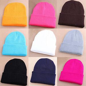 LC-Berretto-da-uomo-donna-maglia-sci-HIP-HOP-caldo-inverno-elastico-lana