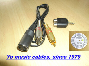 Phono Line Cable 5 Pin Din 2rca Jack Turntable Amp Other To