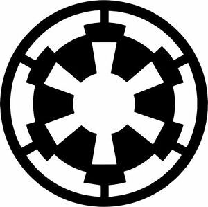 SoCoolDesign Galactic Symbol for The Empire Car Window Vinyl Decal Sticker 4 Wide White