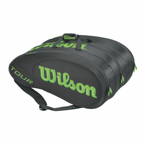 WILSON TOUR BLACK MOULDED 15 RACKET THERMO TENNIS BAG ALSO FOR TRAVEL OR PADEL