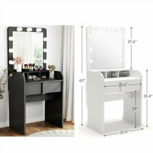 Tribesigns Dressing Vanity Table Set Makeup Lighted Desk With