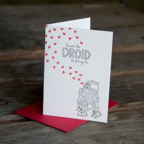 letterpress printed eco friendly You are the droid im looking for