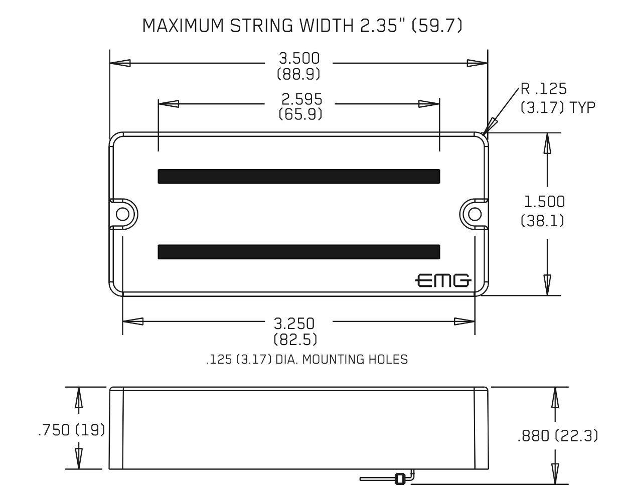 Wiring Diagram Emg 707 Schematic Diagrams Hz With Ex 81 7 Black String Active Pickup Set W Pots Wires Ebay