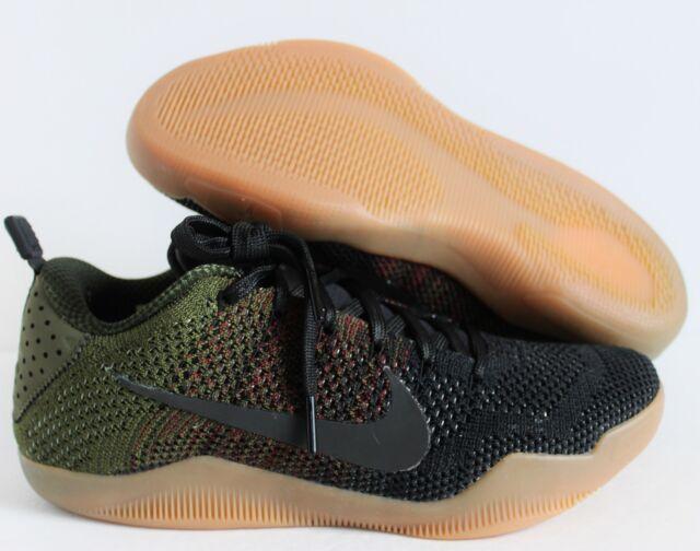 premium selection d7550 1ddcb Nike Kobe XI 11 Elite Low 4KB Black Horse Oliver Green Gum sz 7  824463