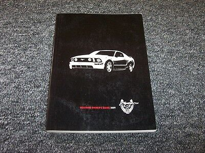 ford mustang owner owners operator user guide manual