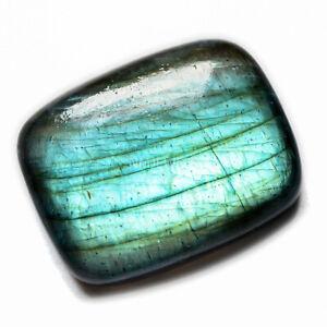 Cts-49-50-Natural-Blue-Fire-Labradorite-Cabochon-Cushion-Cab-Loose-Gemstones