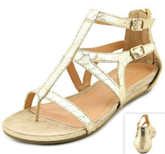 Kenneth Cole Reaction Women's Lost Time Gladiator Sandals, Light Gold Size 6; 10