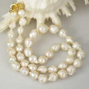 NECKLACE-White-KASUMI-Freshwater-PEARLS-amp-Gold-Vermeil-Sterling-SILVER-26-5-inch