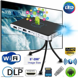 Mini-Pocket-Android-Projector-DLP-WiFi-3D-HD-Home-Theatre-Cinema-HDMI-Bluetooth