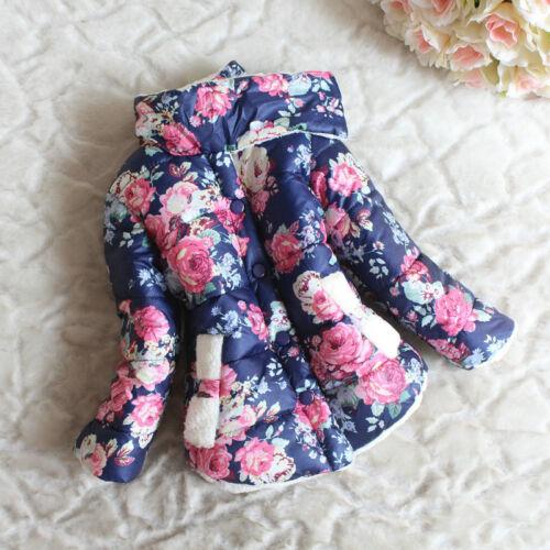 Kinder Baby Mädchen Winter Dicker Mantel Fleece Jacke Schneeanzug Oberbekleidung