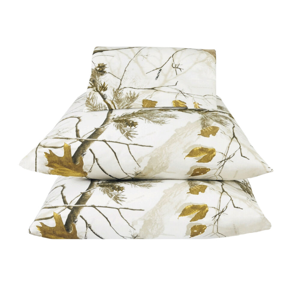 Realtree Snow Camo Sheets Set,  Weiß Camouflage Bedding