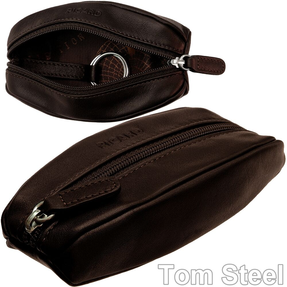 Picard Leather Key Case Pouch Folder Bag New