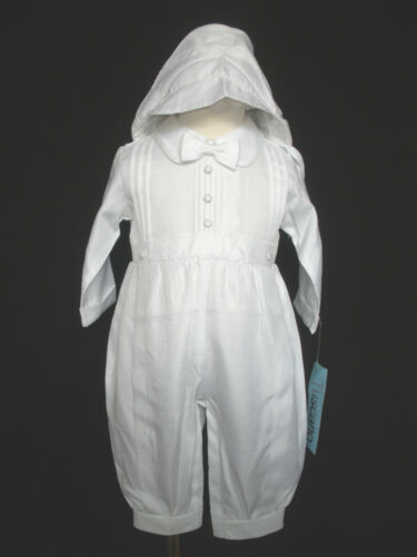 White Rompers Hat for Baby Toddler Boy Christening Easter Baptism New Born-30M