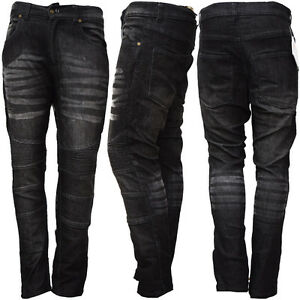 New-Men-039-s-Motorbike-Motorcycle-Jeans-Biker-Denim-Trousers-with-Protective-Lining