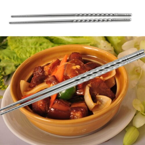 5Pairs Chopsticks Chinese Food Necessary Chopsticks Portable Stainless Steel