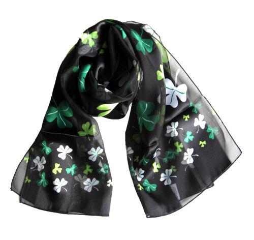 Kongle Shamrock St Patricks Day Scarf Big Small Mix Shamrock print scarf