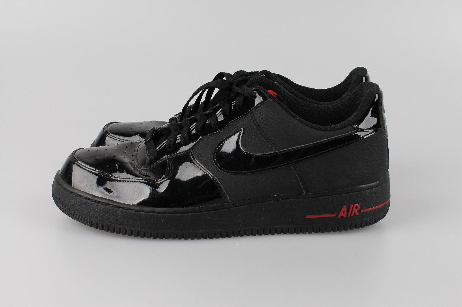 NIKE Air Force 1 '07 Low  47,5  Sport ROT Schwarz Lack  RAR  Herren Sneaker
