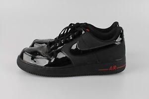 Details zu NIKE Air Force 1 '07 Low * 47,5 * Sport Red Schwarz Lack * RAR * Herren Sneaker