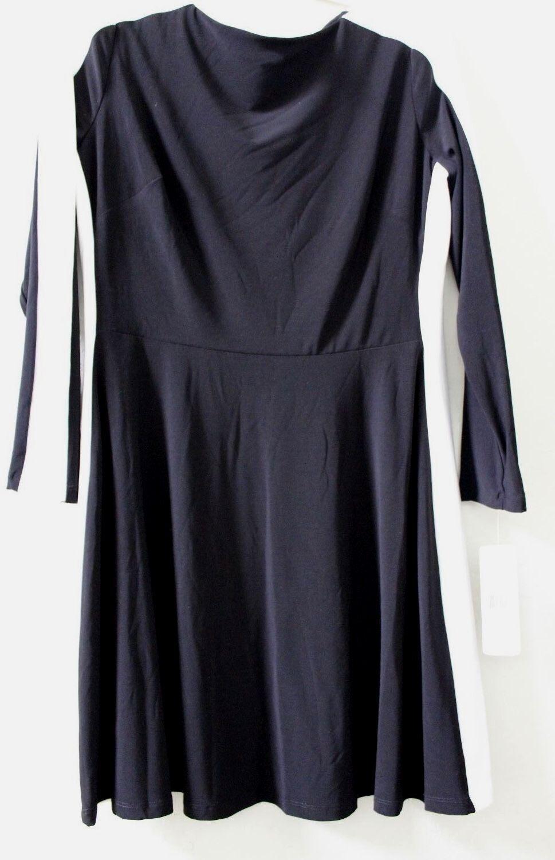 LAUREN Ralph Lauren Manches Longues Noir Blanc Couleur Block Sheath Robe 14P  139