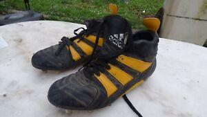 Cuero Vintage Rugby Tacos Crampones Zapatos Adidas xEqZvW4Xwa