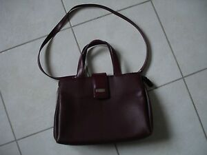 df1e2a48ab SAC A MAIN FEMME BORDEAUX SIMILI CUIR DUO LYNX | eBay