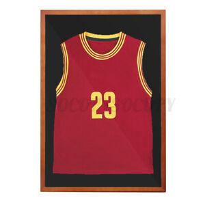 50*75CM Wood Jersey Display Case Shadow Box Frame Baseball Basketball Football