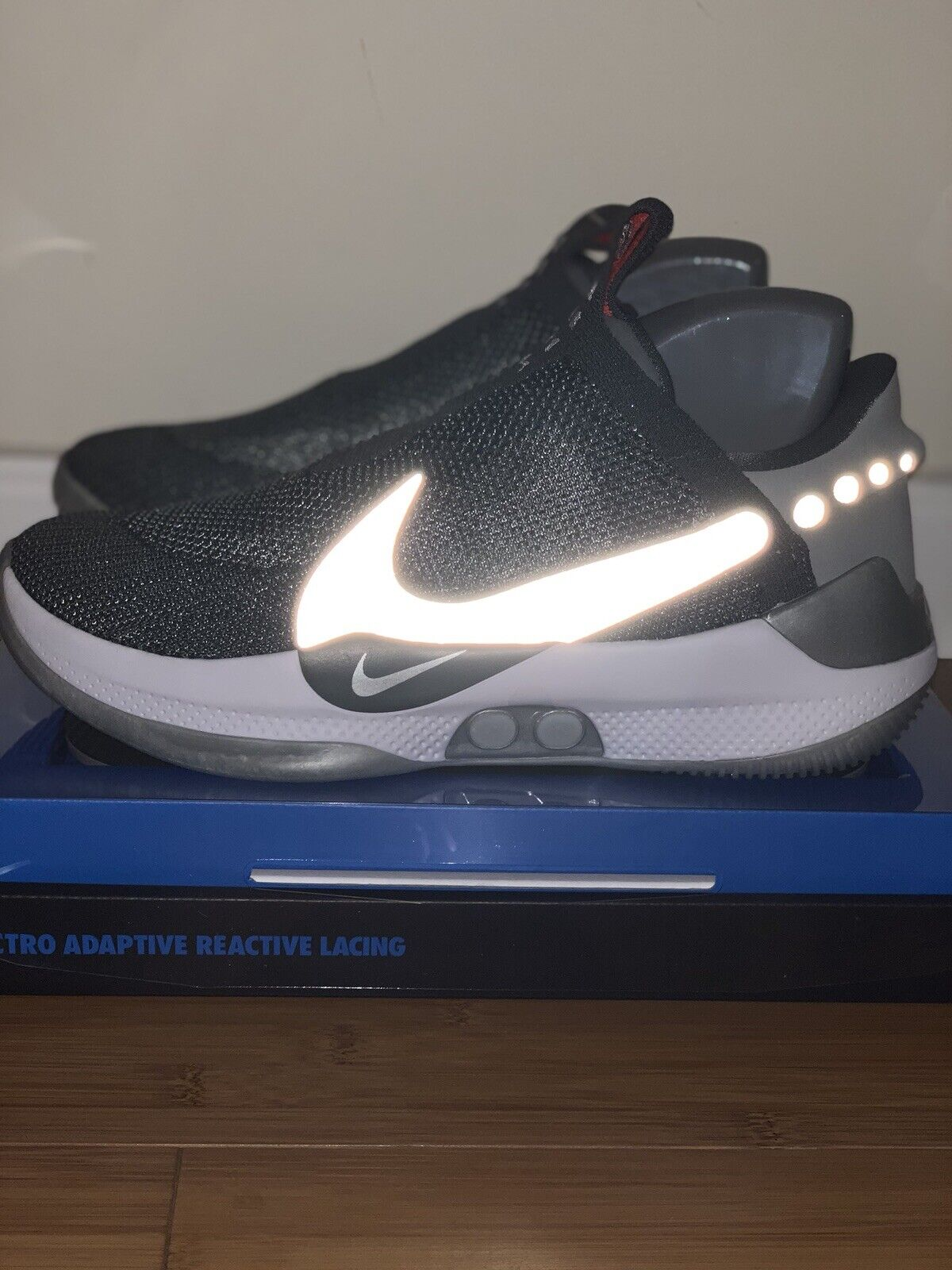 the latest 58da0 3298f Nike Adapt BB Basketball Shoes Self-Lacing A02582-004 Dark Gray Men s Size  10