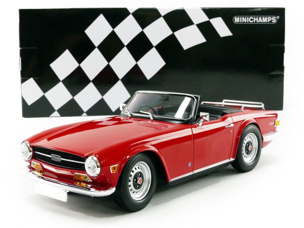 Minichamps 1969 TRIUMPH TR6 Convertible Rojo 1:18  totalmente Nuevo Hot Vendedor