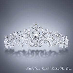 Silver-Crystal-Rhinestone-Royal-Princess-Wedding-Bridal-Pageant-Prom-Tiara-Crown