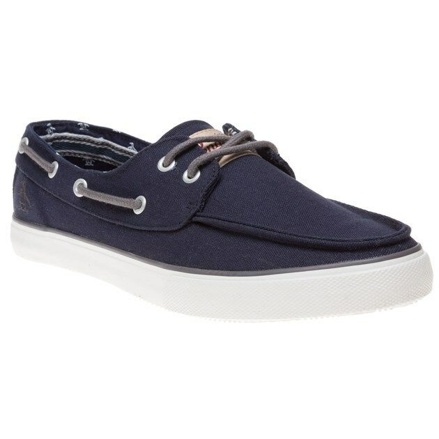 New Mens Penguin bluee Laguna Canvas Trainers Boat shoes Lace Up
