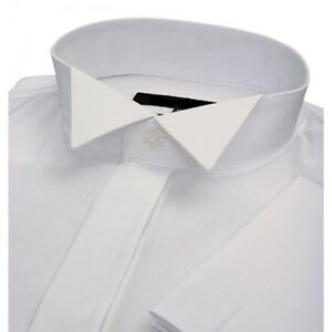 NEW-WHITE-WEDDING-DRESS-MONACO-VICTORIAN-WING-COLLAR-SHIRT-16-034-COLLAR
