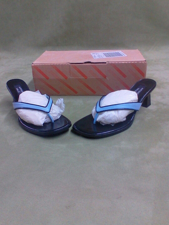 Antonio Valle Leather Sz 9 M Genuine Leather Valle Toe Strap Sandals Heels