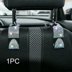 White-Diamond-Car-Seat-Headrest-Hook-Backseat-Hanger-Holder-Hanging-Bag-C7V3