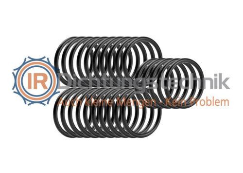 Tauchen 25 St. O-Ring Nullring Rundring 20,0 x 2,0 mm EPDM 70 Shore A schwarz