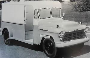 1956-Chevrolet-2-034-milk-truck-034-delivery-12-X-18-034-Black-amp-White-Picture