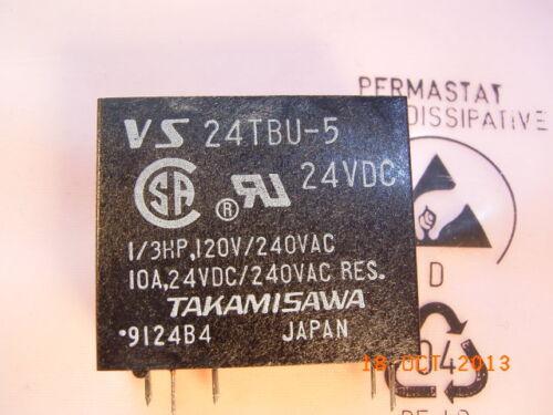 VS-24TBU-5 VS-24TBU-5-IM2 Spule Coil Voltage 24VDC 10A 240VAC TAKAMISAWA