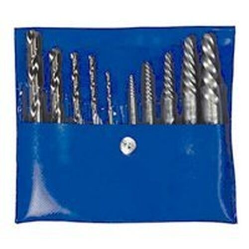 NEW IRWIN 11117 SPIRAL 10PC FLUTED DRILL SCREW  EXTRACTOR REMOVER SET W BITS