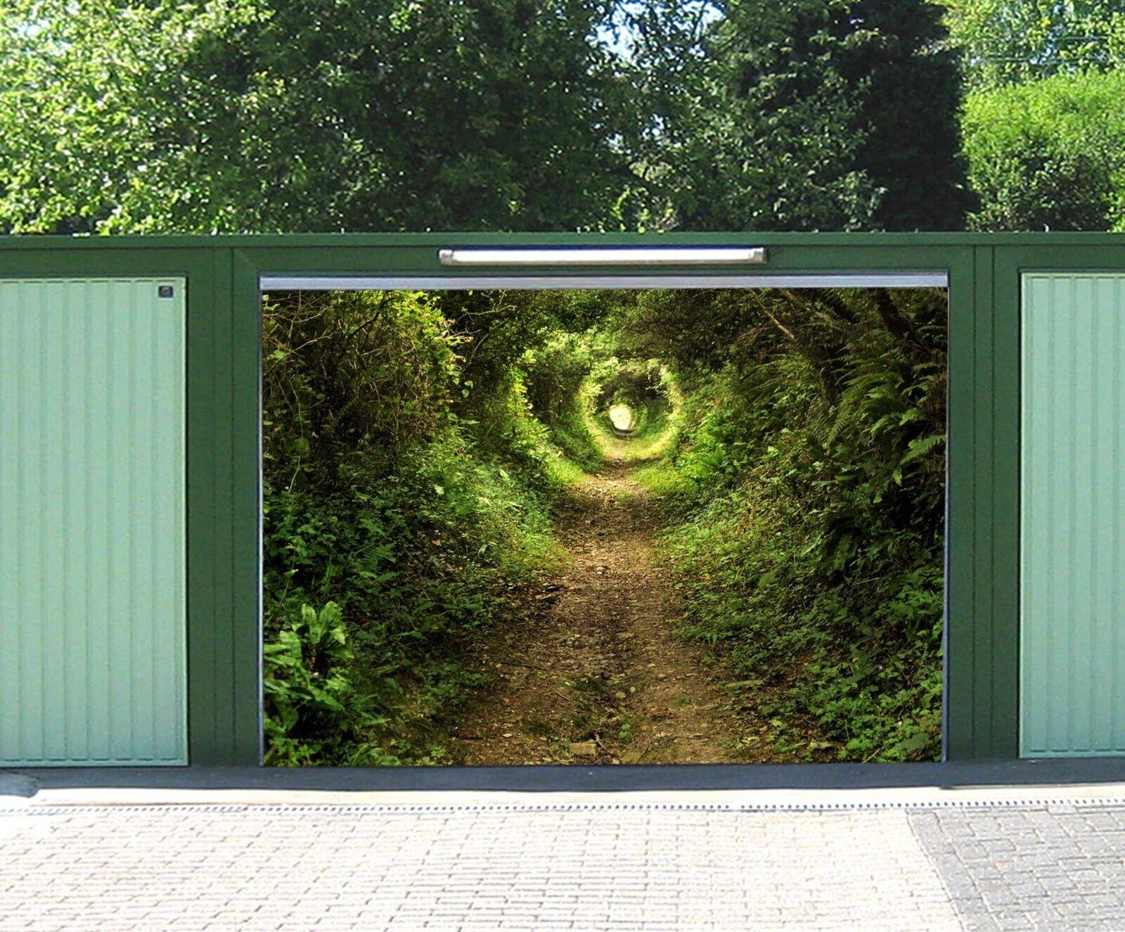 3D Grün Jungle Hole 45 Garage Door Murals Wall Print Wall AJ WALLPAPER UK Lemon