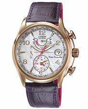 Citizen Eco-Drive Women's FC0003-00D World Time A‑T Purple Strap Watch