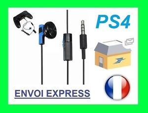 écouteur Pour Manette Sony Ps4 Casque Mic Onoff Envoi Rapide Ebay
