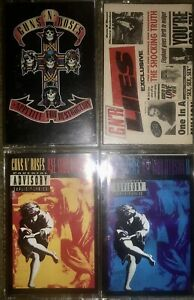 4-GUNS-N-ROSES-CASSETTE-TAPES-APPETITE-FOR-DESTRUCTION-USE-YOUR-ILLUSION-LIES