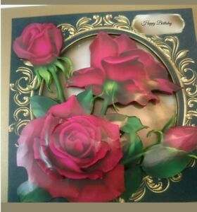 Handmade-by-myself-3D-roses-Birthday-card-anniversary-card-with-big-red-roses
