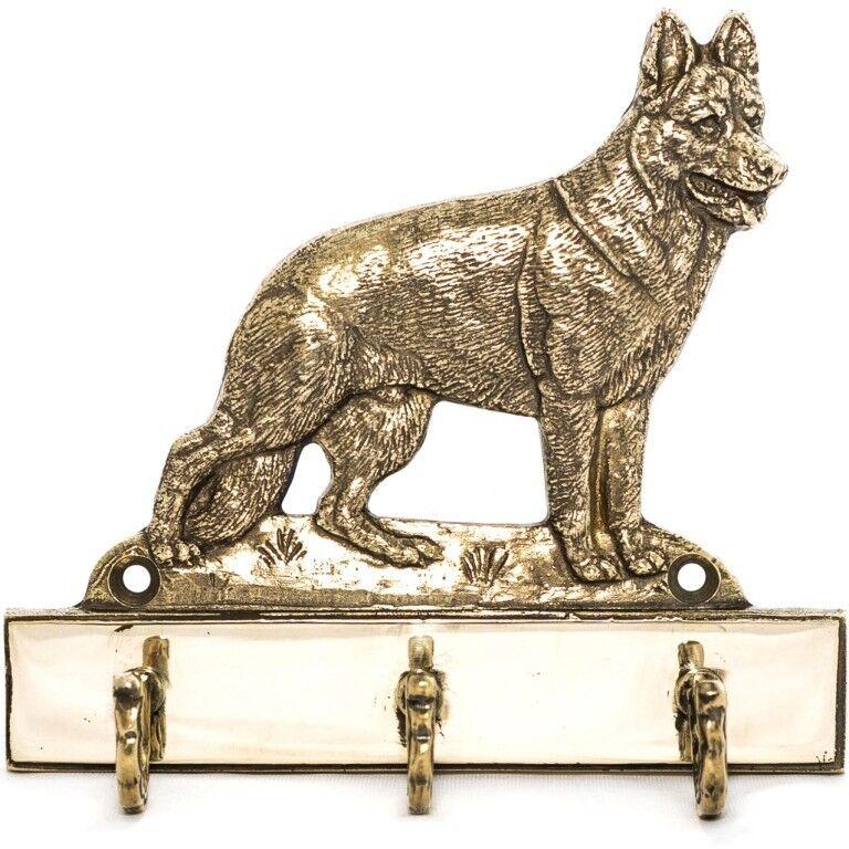 German Shepherd  brass hanger hanger hanger with image of a dog, high quality, Art Dog bc6fcf